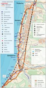 Карта г.Гагра