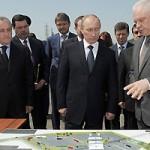 На российско-абхазской границе состоялась встреча президентов Александра Анкваба и Владимира Путина.