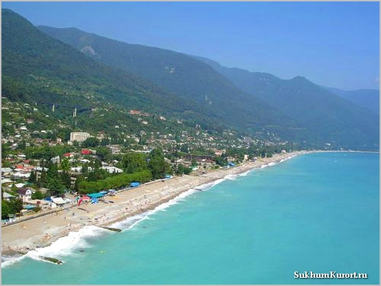 Отели Абхазии на берегу моря
