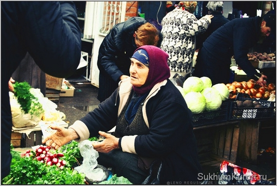 Зимний рынок в Абхазии