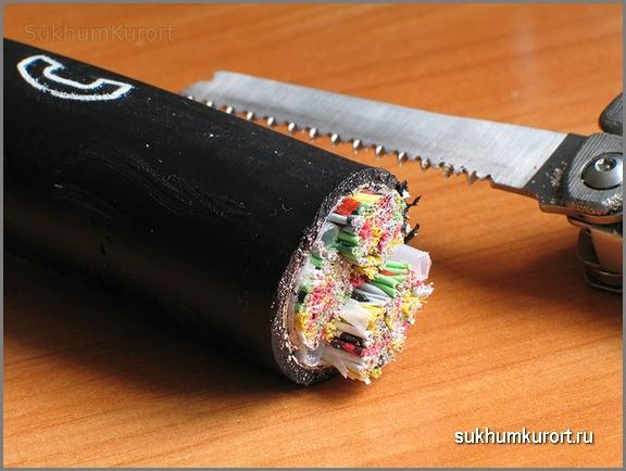 В Сухуме похитили 1000 метров телефонного кабеля
