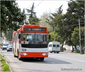 Троллейбус в Сухуме